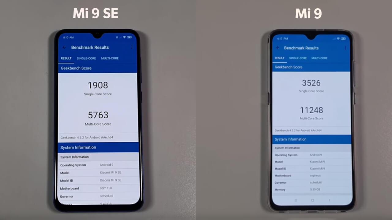Mi 9 vs Mi 9 SE