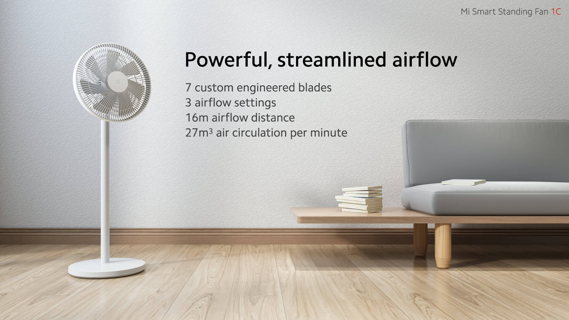 Xiaomi Mi Smart Standing Fan 1C already on sale: Coupon in Europe