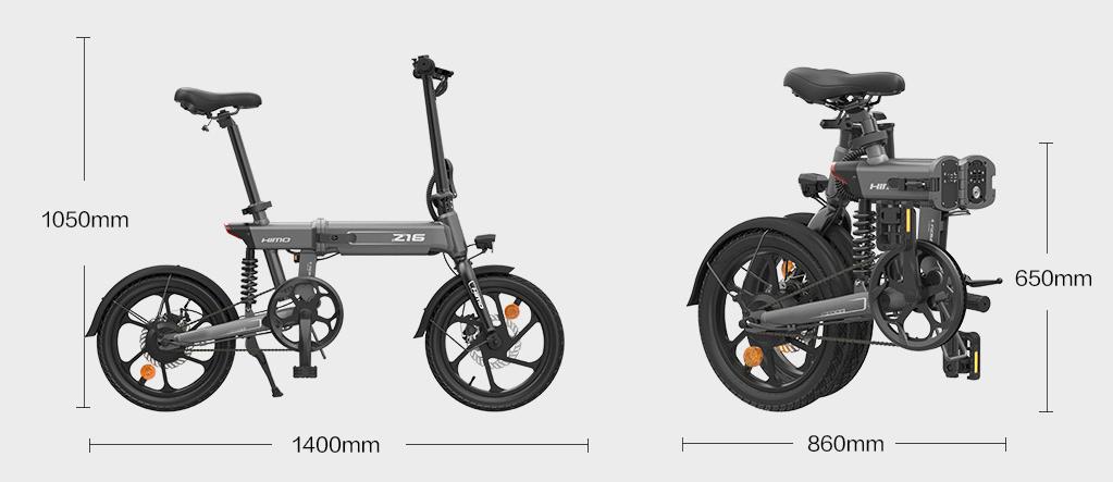 Xiaomi Himo Z16 Is A New Folding Electric Bike With Rear