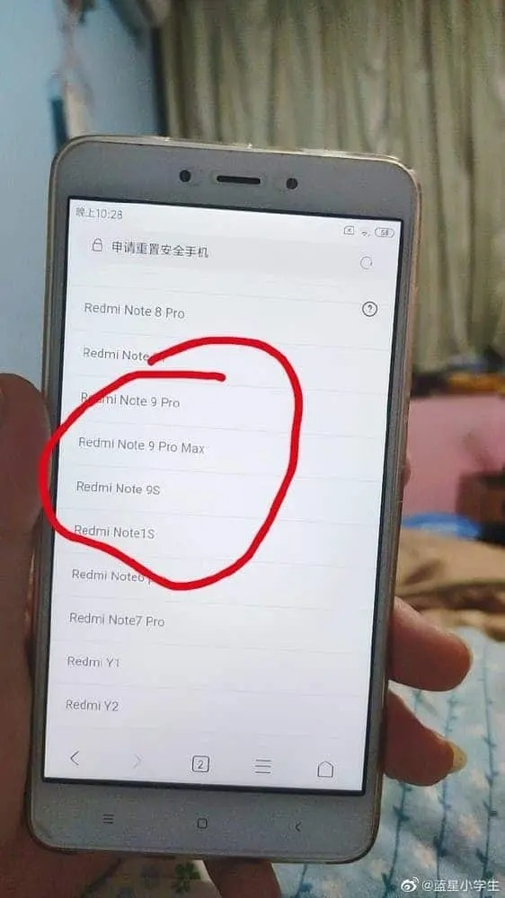Redmi-Note-9-cinska seria